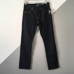 Volcom Sz28 Vorta Slim Straight Dark Denim Jeans